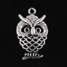 25pcs tibetan silver owl pendants charms for jewelry making