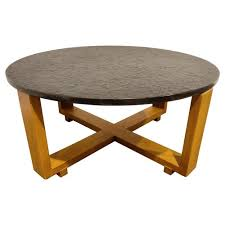round brutalist coffee table 1960s for
