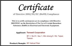 Certificate Of Compliance Template Word Temwell Corporation Certificate Of Compliance Template