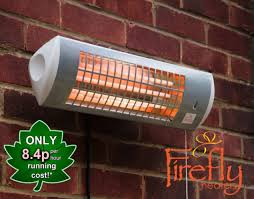 firefly wall mounted electric patio heater quartz garden outdoor 1 8kw