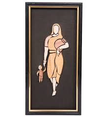 mother and child wood wall hanging kraftsouk 7