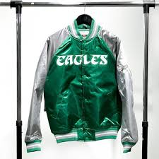 m n satin jacket eagles