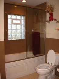 shower with gl block window image cabinetandra