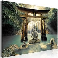 Schilderij Buddha Smile 1 Part Wide Zen Schilderijen