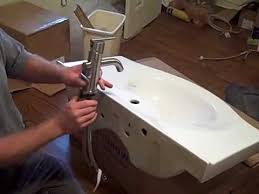 Install Bathroom Sink Stunning Bathroom Faucet Installation With Randy From R Squared Renovations