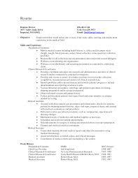 Objective Example Resume Medical Secretary Resume Objective Examples North Carolina 60