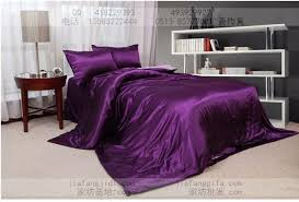 purple pink silk comforter bedding set