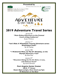 Travel Schedule 2019 Adventure Travel Series Schedule The Pathway To The Pacific