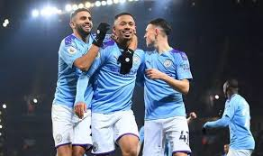 Manchester city boss pep guardiola: Man City 2 1 Everton Gabriel Jesus Double Guides City To Nervy Victory Over Toffees Football Sport Express Co Uk