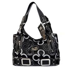 Coach Waverly C Logo Signature Large Black Totes EKD