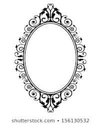 Image Filigree Vector Illustration Of Vintage Mirror Shutterstock Mirror Frame Images Stock Photos Vectors Shutterstock