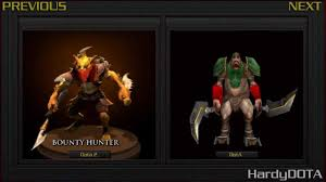 dota 2 comparison model bounty hunter dota 2 vs dota youtube