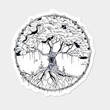 Celtic Tree Chart Celtic Tree Of Life Sticker By Rongoswami Design By Humans