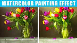 how to change photos to watercolor painting in photo cs6 cc you