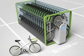 Bicycle Vending Machine Inspiration Bike Sharing Vending Machine Fits 48 Bikes In The Equivalent Of 48