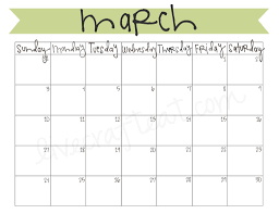 Monthly Calendar 2013 March 2013 Calendar Free Printable Live Craft Eat
