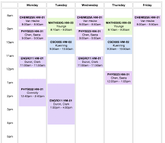 Block Scheduling Colleges Sample College Schedule Under Fontanacountryinn Com