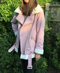 dd3 has been requesting an aviator jacket in pink suede for a couple of years now so naturally i was delighted when style arc released their carly aviator