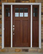exterior doors with sidelights. craftsman 6 lite clear alder front entry door with (2) sidelights \u0026 transom exterior doors e