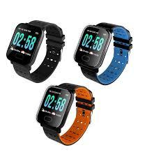ᗚALLOYSEED <b>A6 Smart Watch Heart</b> Rate Blood Pressure Monitor ...