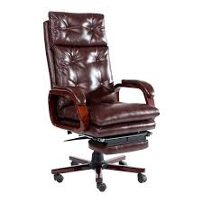 reclining office chairs high back leather executive reclining office chair with footrest brown reclining office chairs