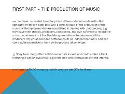music industry essay plan 3