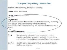 sample lesson plan for preschool early childhood literacy lesson planning video