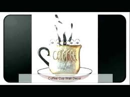 black coffee cup silhouette metal wall art for home decoration