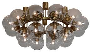large vintage chandelier with 20 hand blown glass globes for at pamono