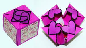 diy paper crafts idea gift box sealed with hearts a smart way to present your gift julia diy you