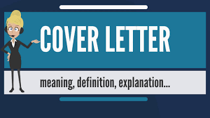Definition For Cover Letter What Is Cover Letter What Does Cover Letter Mean Cover Letter Meaning Definition Explanation