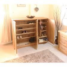 baumhaus mobel solid oak hidden home office. Baumhaus Mobel Solid Oak Extra Large Shoe Cupboard COR20F Hidden Home Office