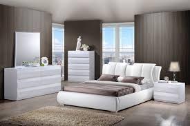 Global Bedroom Furniture Global Furniture Bailey 8269 4 Piece Platform Bedroom Set In White