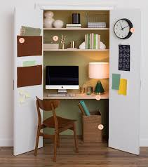 home office closet. West Elm - How To Turn A Closet Into Home Office T