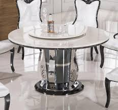 ... Dining Tables, Enchanting White Round Modern Glass White Marble Dining  Table Varnished Design: antique