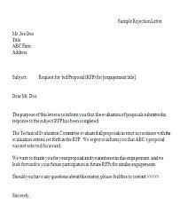 Proposal Bid Sample Formal Bid Proposal Bid Proposal Rejection