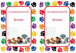 invitations to print free paw patrol invitations free you are invited