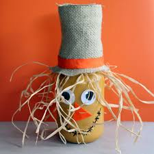 make this scarecrow jar fall craft idea for your autumn home a fun craft that