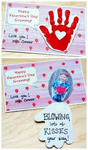 Valentines Day Quotes For Preschoolers Handprint Valentines Day Card Blowing Kiss Your Way Pinterest