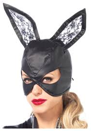 faux leather bunny mask jpg