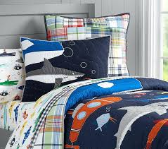 shark sheets twin submarine quilt pottery barn kids bed set