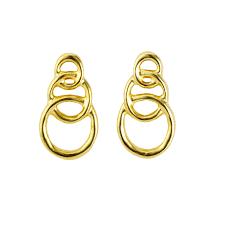 <b>Unode50 Позолоченные серьги</b> Chain by chain, из коллекции Gold