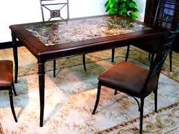 Kitchen Tables With Granite Tops Furniture Terrific Granite Top Dining Tables Table For High End