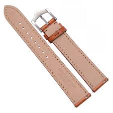 wocci release strap grain leather band with taper 18mm