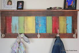 Rustic Coat Rack With Shelf Beyond The Picket Fence Colorful Rustic Coat Hook Shelf 56