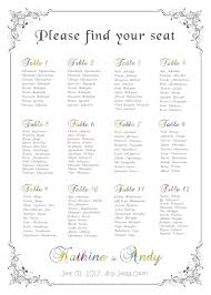 Us 15 0 The Unique Printable Wedding Seating Plan Digital File Provided Only Can Be Birthday Or Christams Party Unique Table In Party Diy