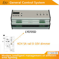 4 ch 5a rail 0 10v dimmer for universal led control system