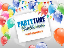 Party Template Party Time Balloons A Powerpoint Template From Presentermedia Com