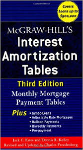 Mcgraw Hills Interest Amortization Tables Third Edition