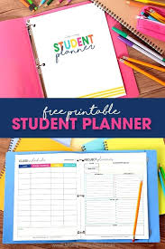 College Academic Planners College Student Planner Academic Planners For Students Template Free